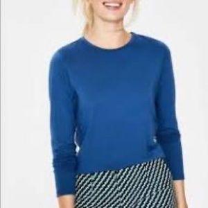 Boden royal blue long sleeve tee top